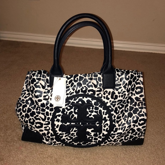69465c3b001a 🌸TORY BURCH 🌸ELLA LARGE TOTE LEOPARD PRINT bag